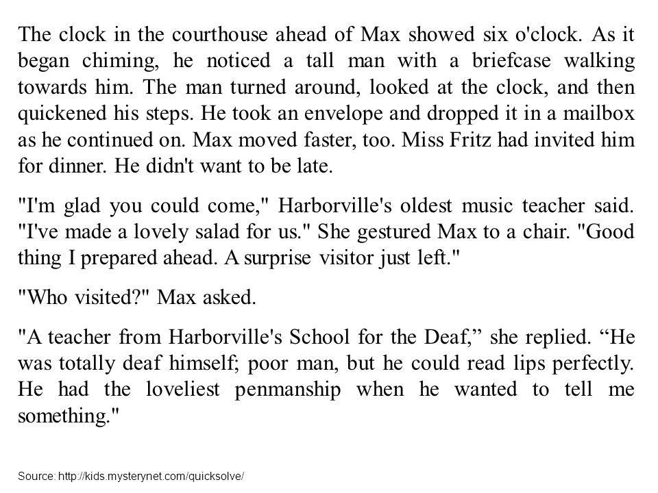 The clock in the courthouse ahead of Max showed six o clock.