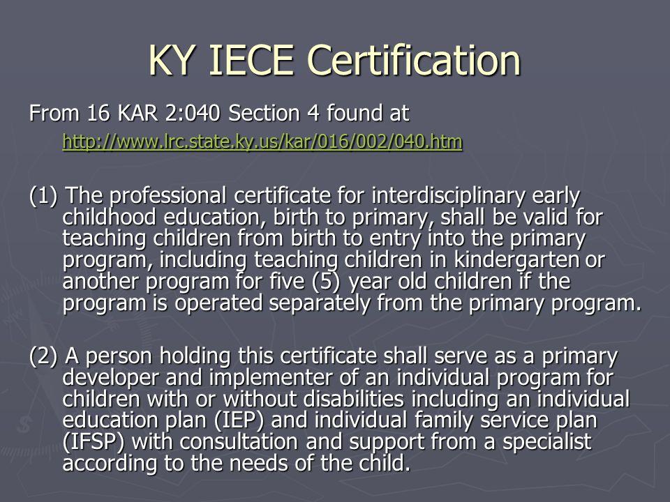 the kentucky teacher internship program for interdisciplinary early