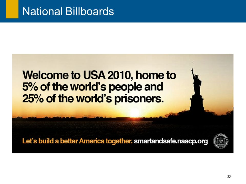 32 National Billboards