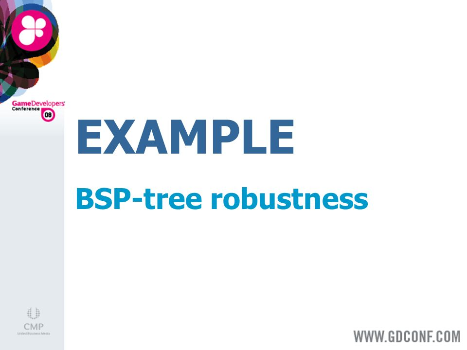 EXAMPLE BSP-tree robustness