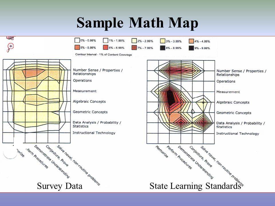 Sample Math Map Survey DataState Learning Standards