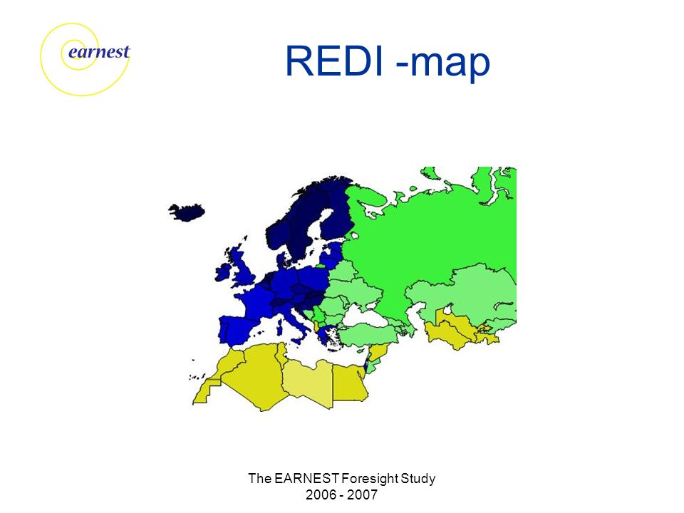 The EARNEST Foresight Study 2006 - 2007 REDI -map