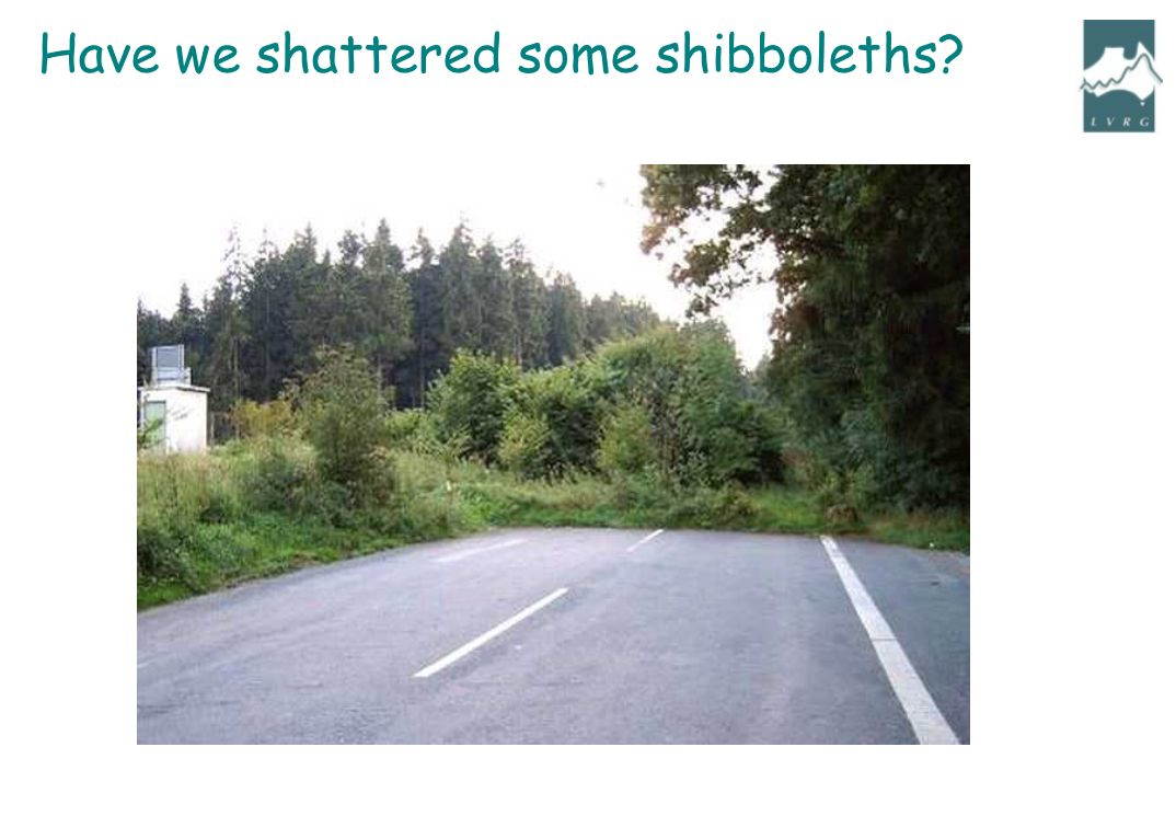 Have we shattered some shibboleths