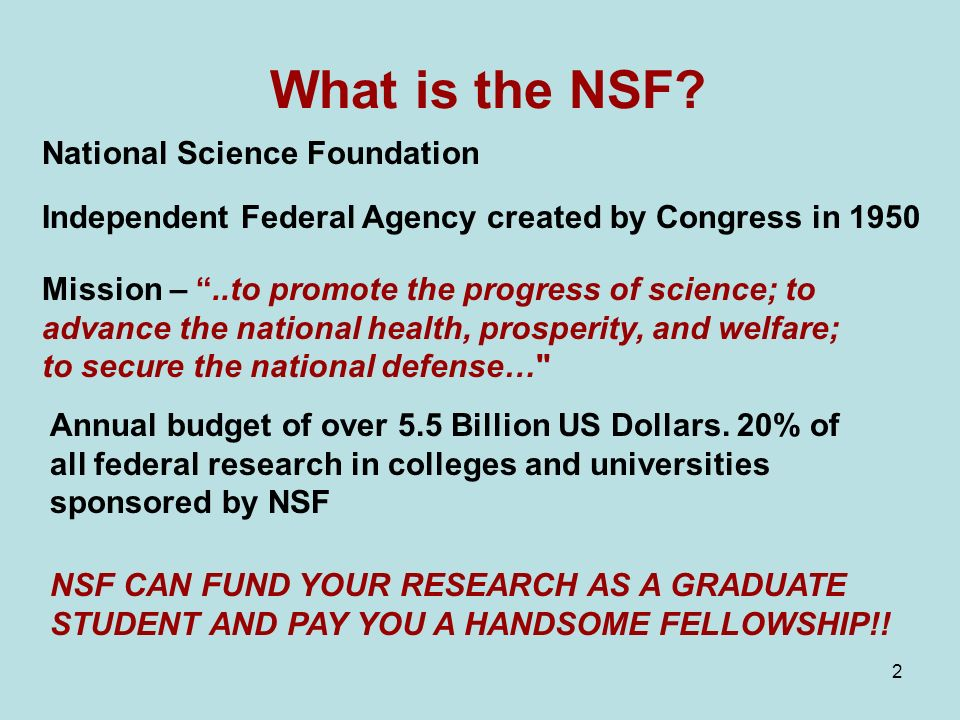 2 What is the NSF.