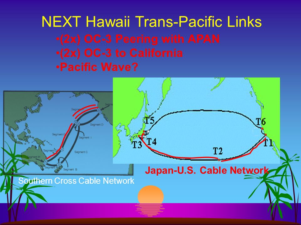 NEXT Hawaii Trans-Pacific Links Southern Cross Cable Network Japan-U.S.