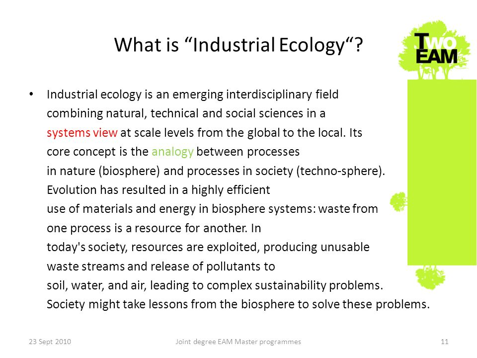 What is Industrial Ecology.