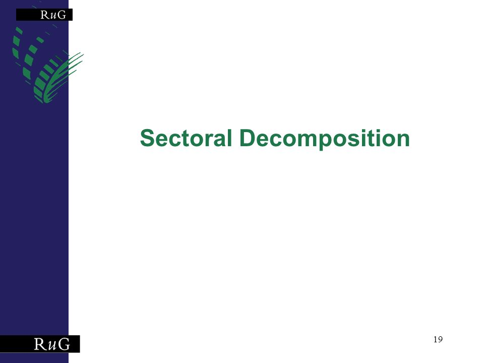 19 Sectoral Decomposition