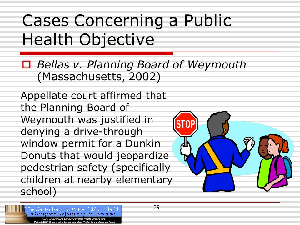 29 Cases Concerning a Public Health Objective Bellas v.