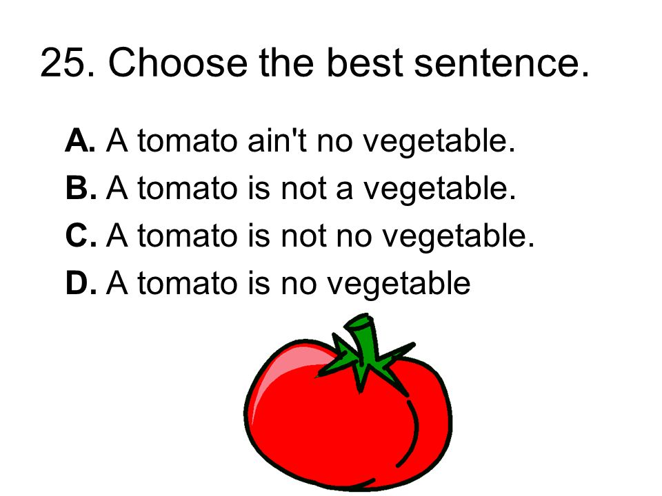 24. Choose the sentence that is written correctly.