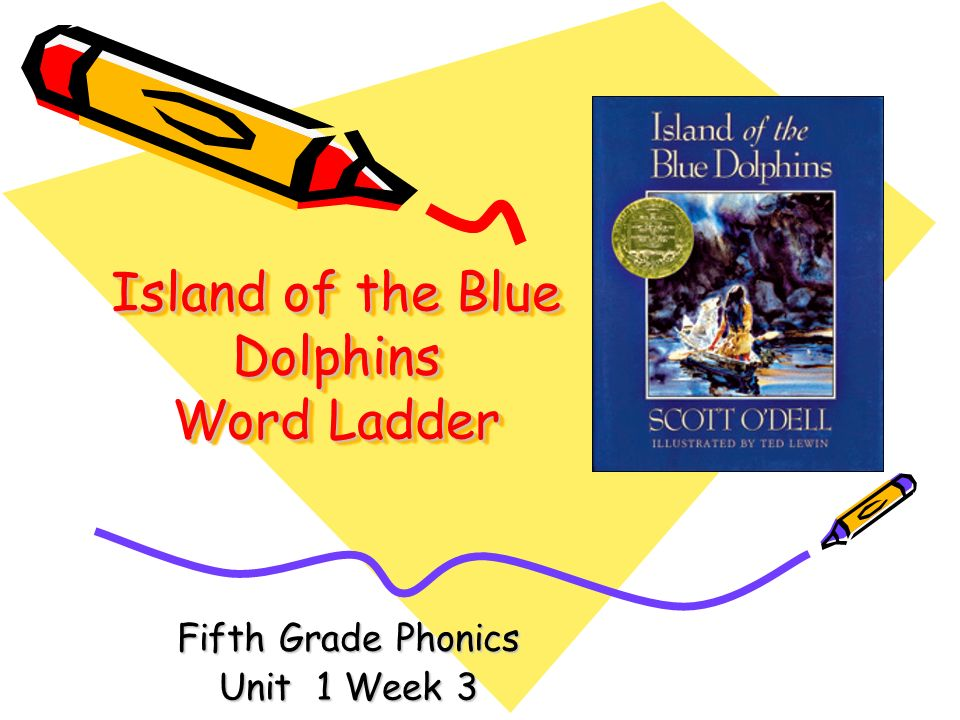 Island of the Blue Dolphins Word Ladder Fifth Grade Phonics Unit 1 Week 3