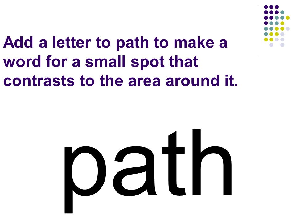 path You should have spelled…