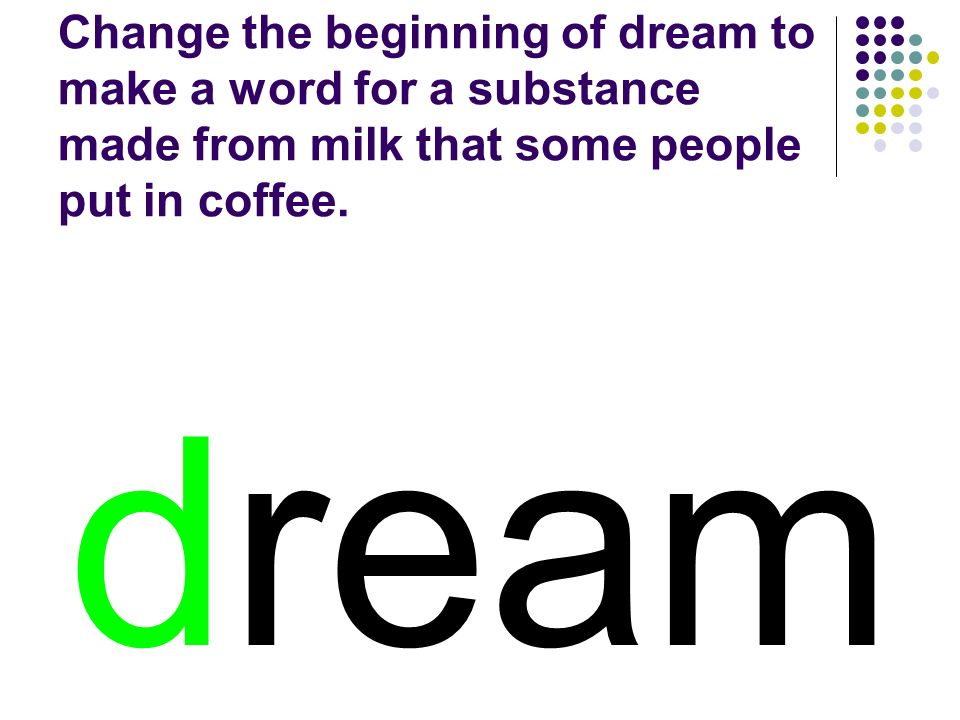 dream You should have spelled…