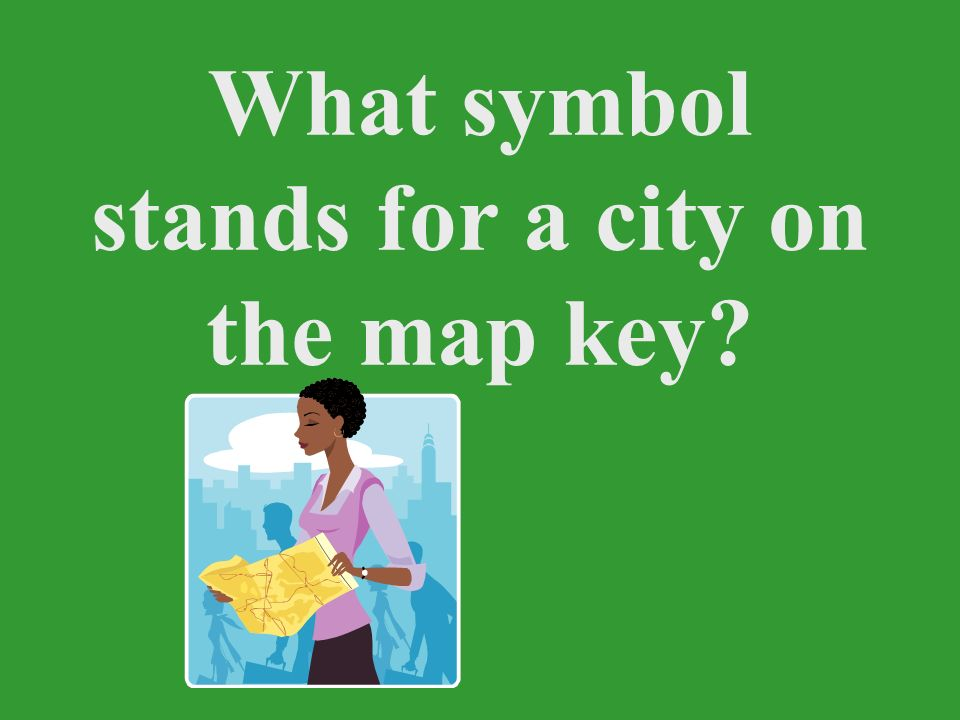 What symbol stands for a city on the map key