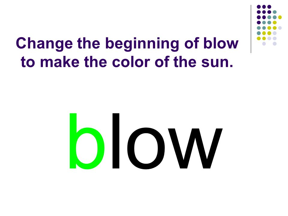 blow You should have spelled…