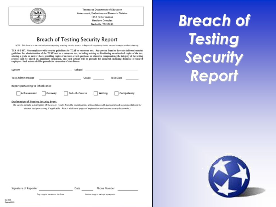 12 Breach of Testing Security Report