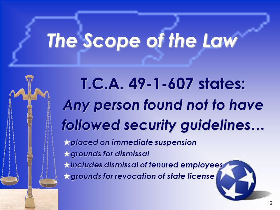 2 The Scope of the Law T.C.A.