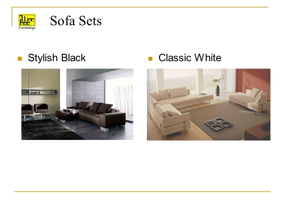 Sofa Sets Stylish Black Classic White