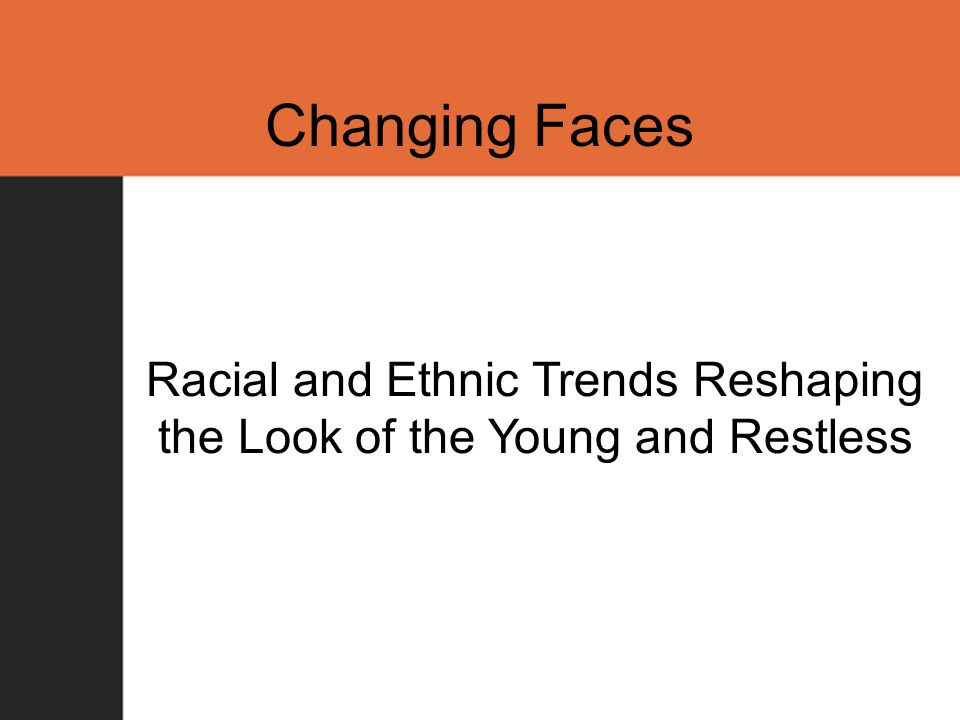 Changing Faces Racial and Ethnic Trends Reshaping the Look of the Young and Restless
