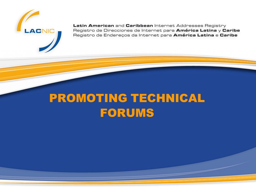 PROMOTING TECHNICAL FORUMS