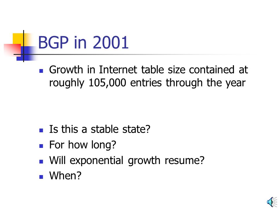 What Happened BGP Table Size Date