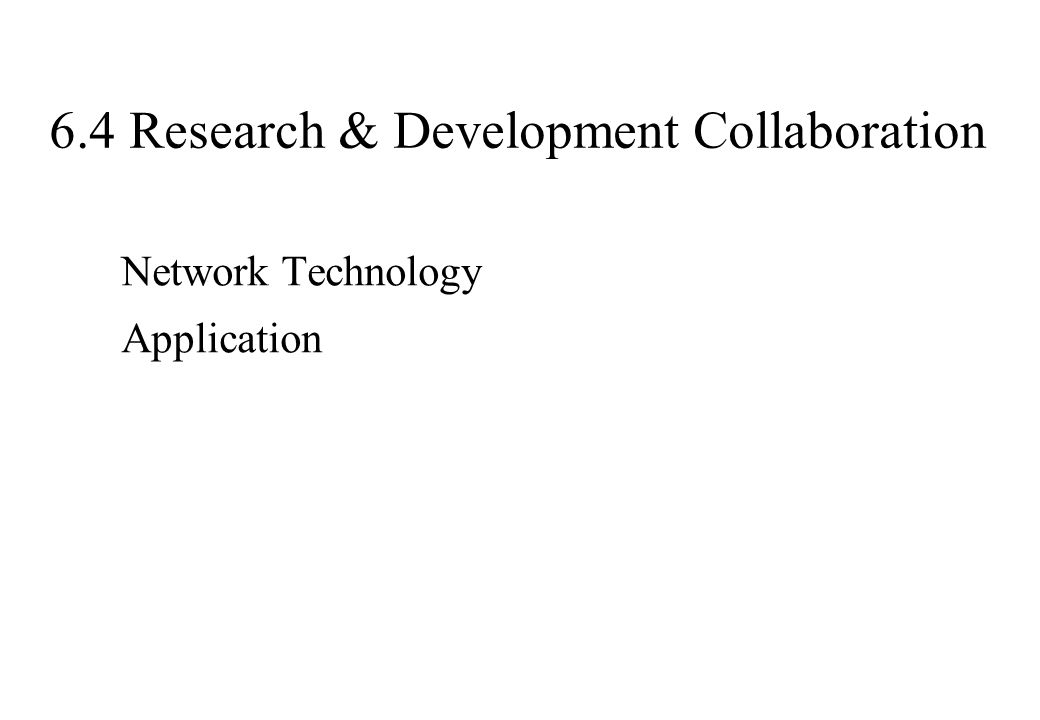 6.4 Research & Development Collaboration Network Technology Application