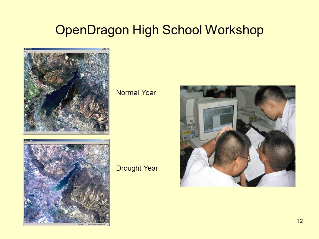 12 OpenDragon High School Workshop Normal Year Drought Year
