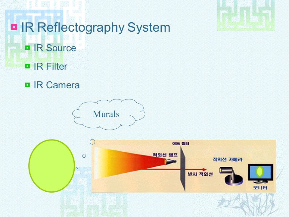 IR Reflectography System IR Source IR Filter IR Camera Murals