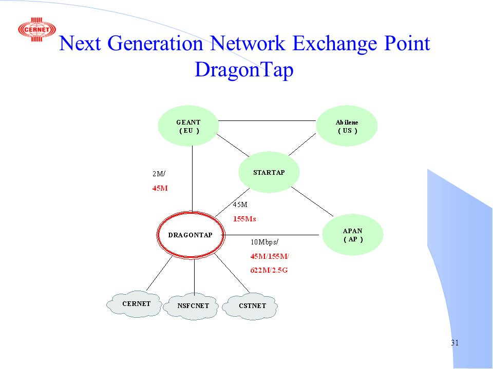 31 Next Generation Network Exchange Point DragonTap