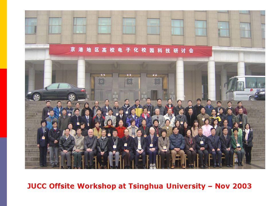 JUCC Offsite Workshop at Tsinghua University – Nov 2003