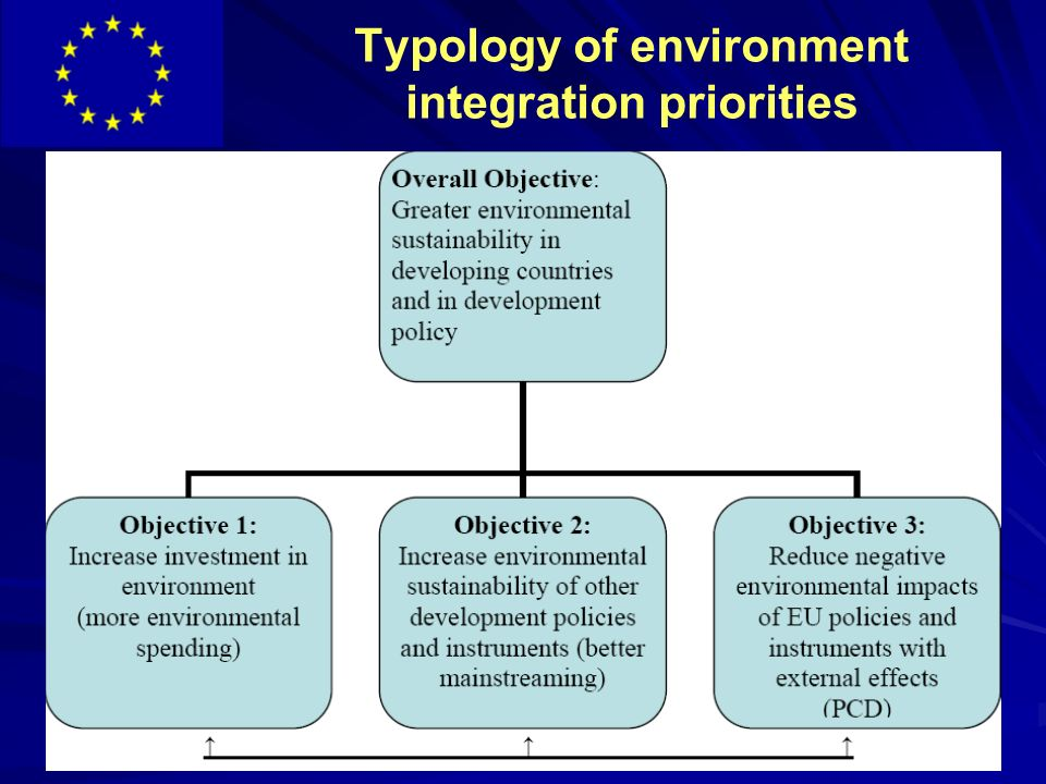 Typology of environment integration priorities