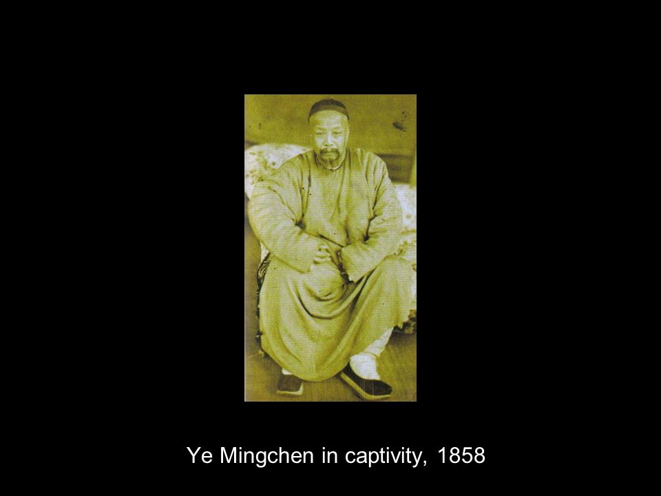 Ye Mingchen in captivity, 1858