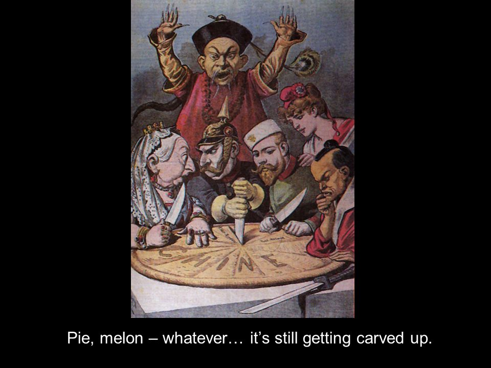 Pie, melon – whatever… its still getting carved up.