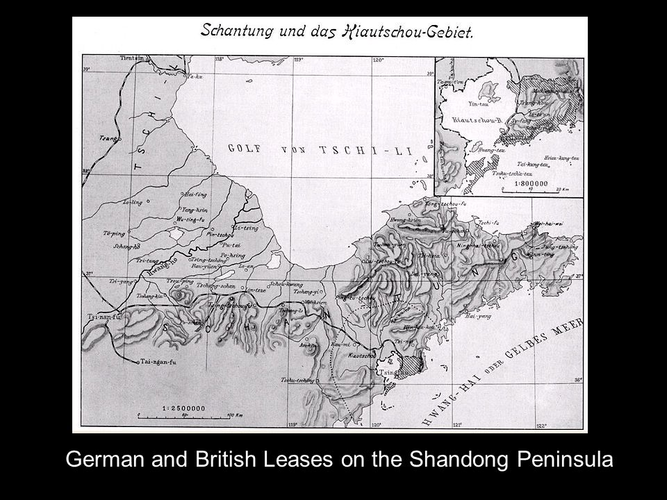 German and British Leases on the Shandong Peninsula