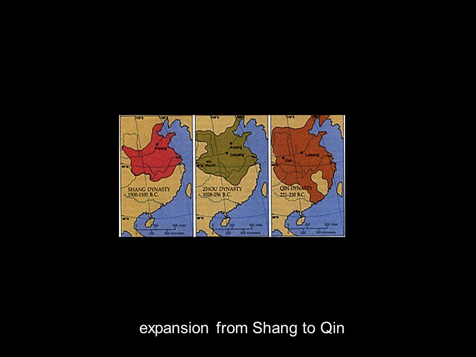 expansion from Shang to Qin