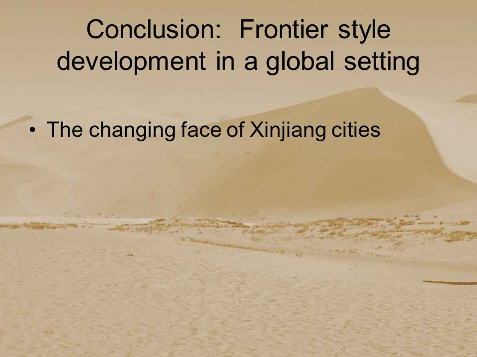 III. Recent shifts: Xinjiangs new position in China and the world.