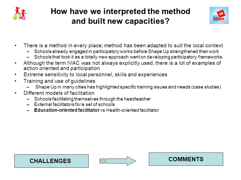 How have we interpreted the method and built new capacities.