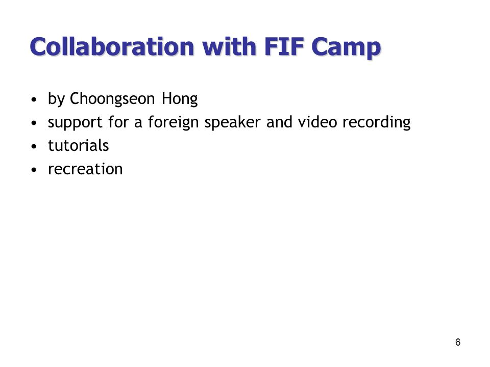 Collaboration with FIF Camp by Choongseon Hong support for a foreign speaker and video recording tutorials recreation 6