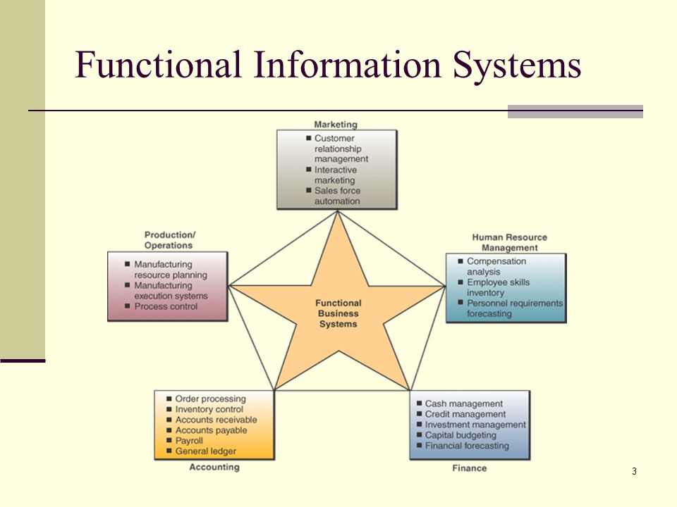 3 Functional Information Systems