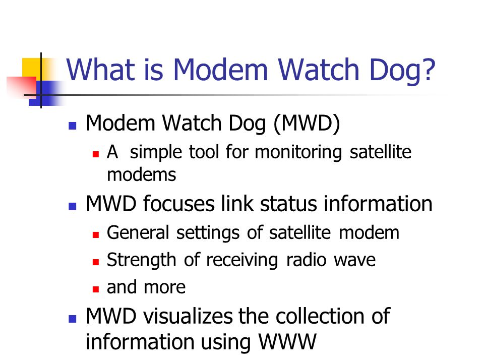 What is Modem Watch Dog.