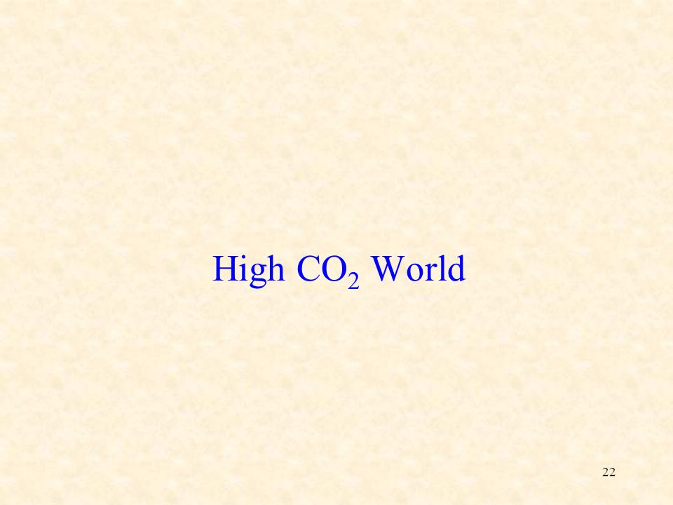 22 High CO 2 World