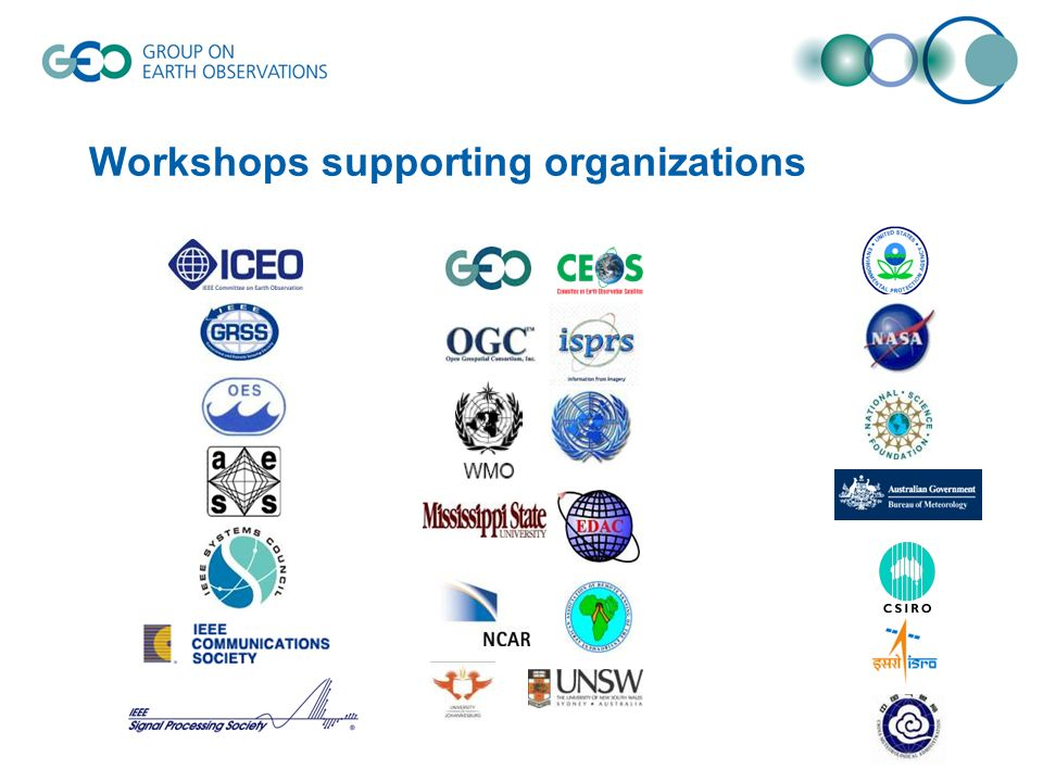 Workshops supporting organizations