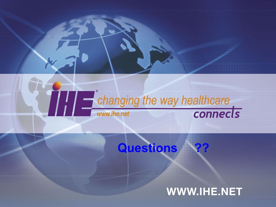 September, 2005What IHE Delivers 7 Questions