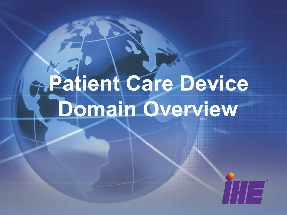 Patient Care Device Domain Overview