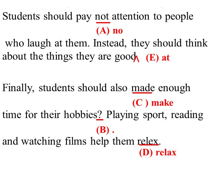 Students should pay not attention to people who laugh at them.