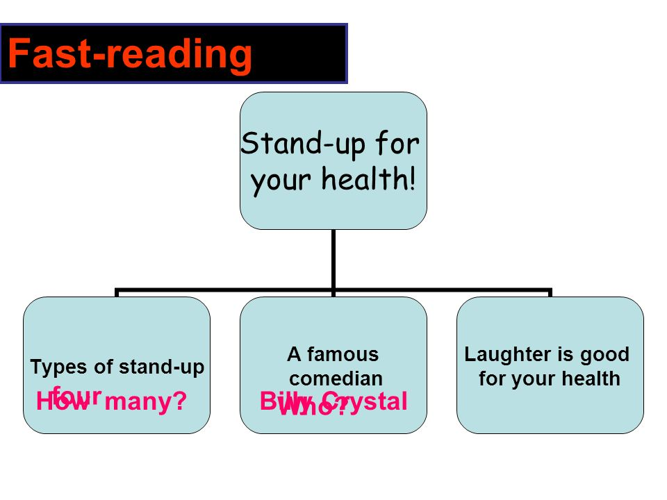 Stand-up for your health.