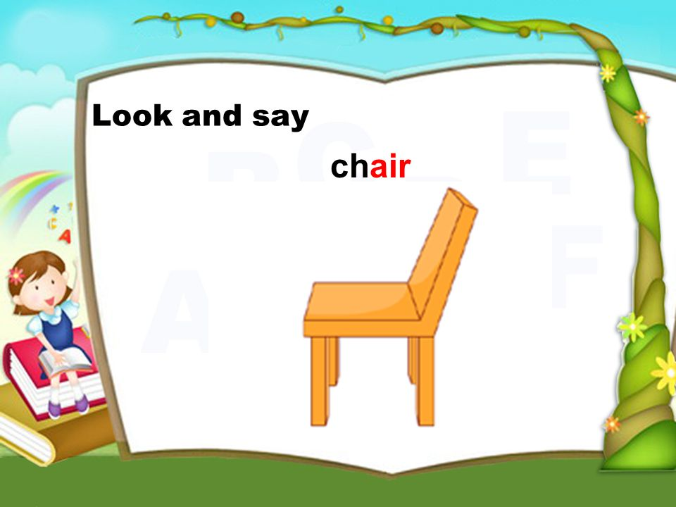 chair Look and say