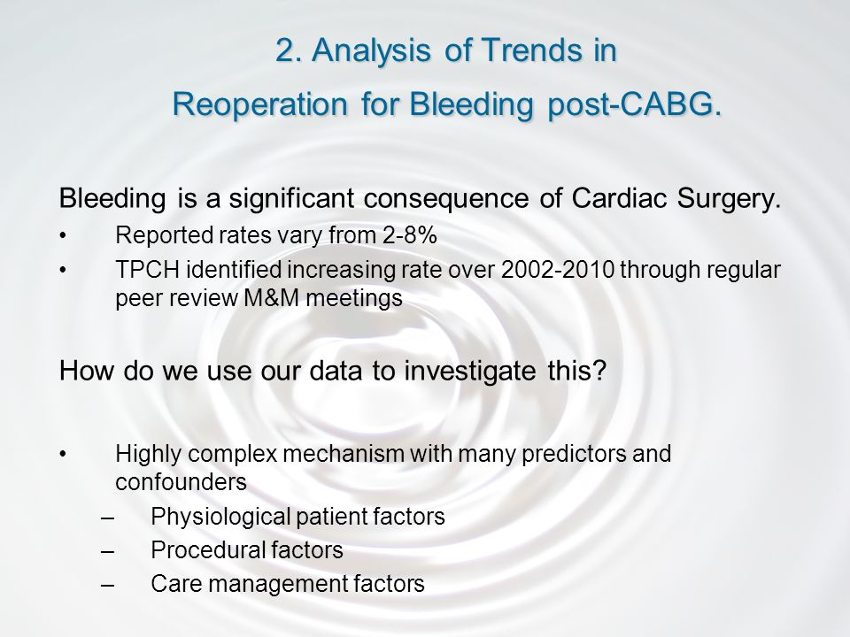 Bleeding is a significant consequence of Cardiac Surgery.