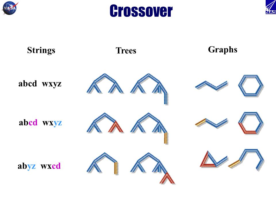 Crossover abcd wxyz abyz wxcd Strings Trees Graphs