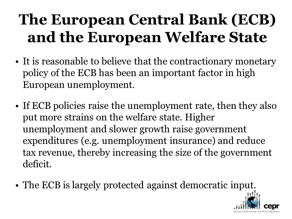 It is reasonable to believe that the contractionary monetary policy of the ECB has been an important factor in high European unemployment.