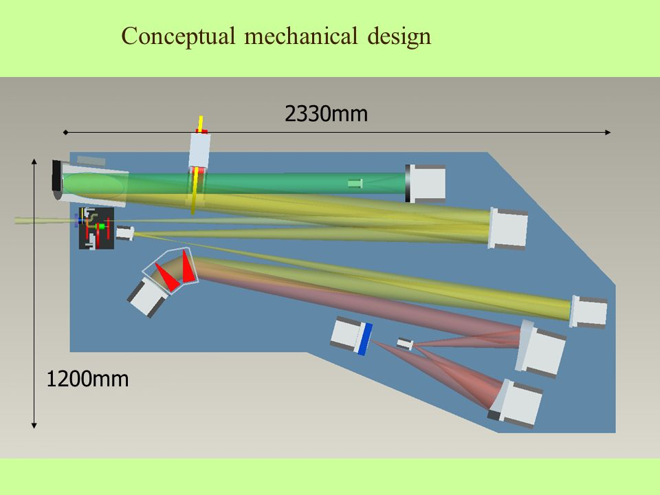 2330mm 1200mm Conceptual mechanical design